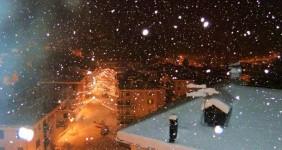 Laggio sotto la neve